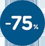 75% Pad Reduction**